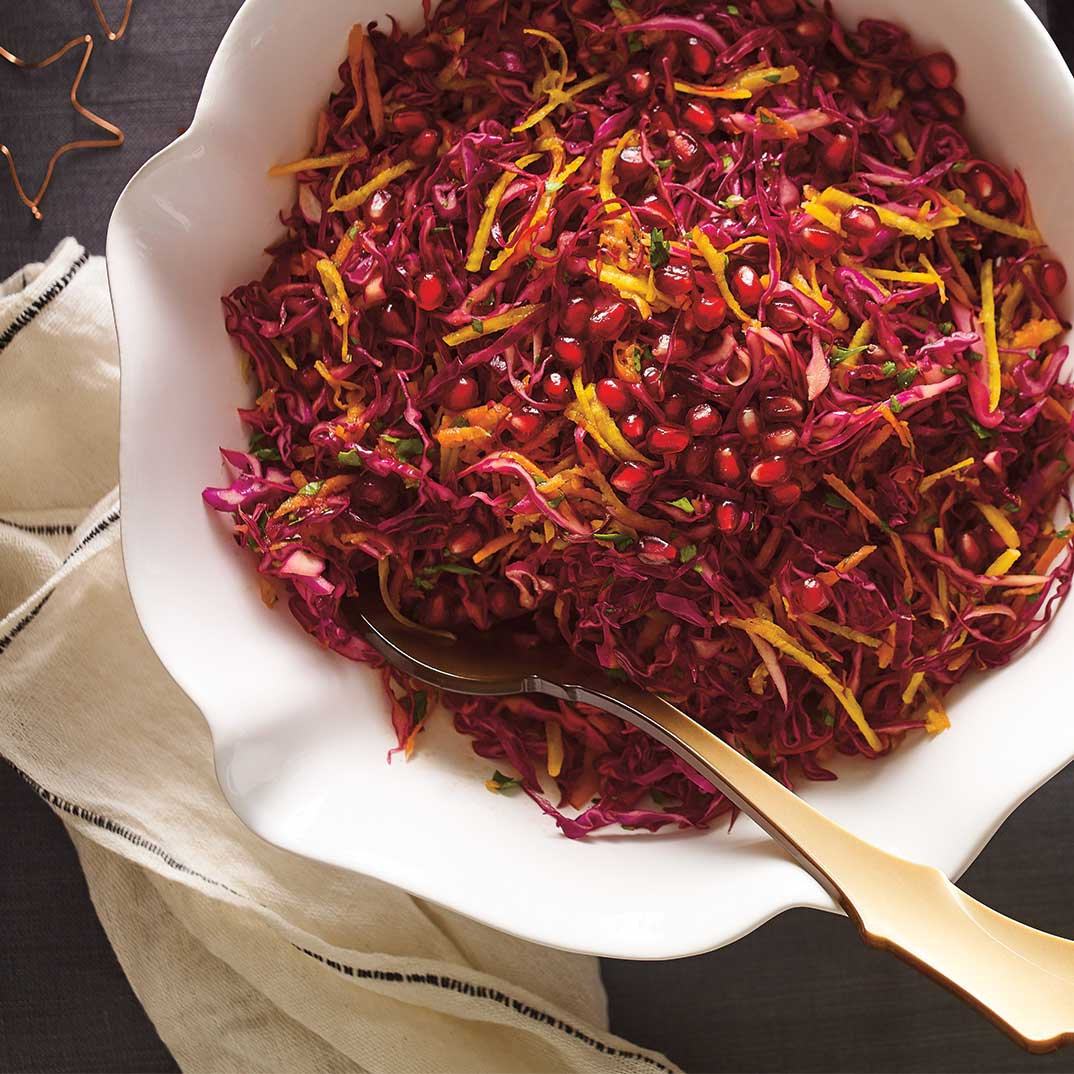 Beet, Pomegranate and Red Cabbage Salad