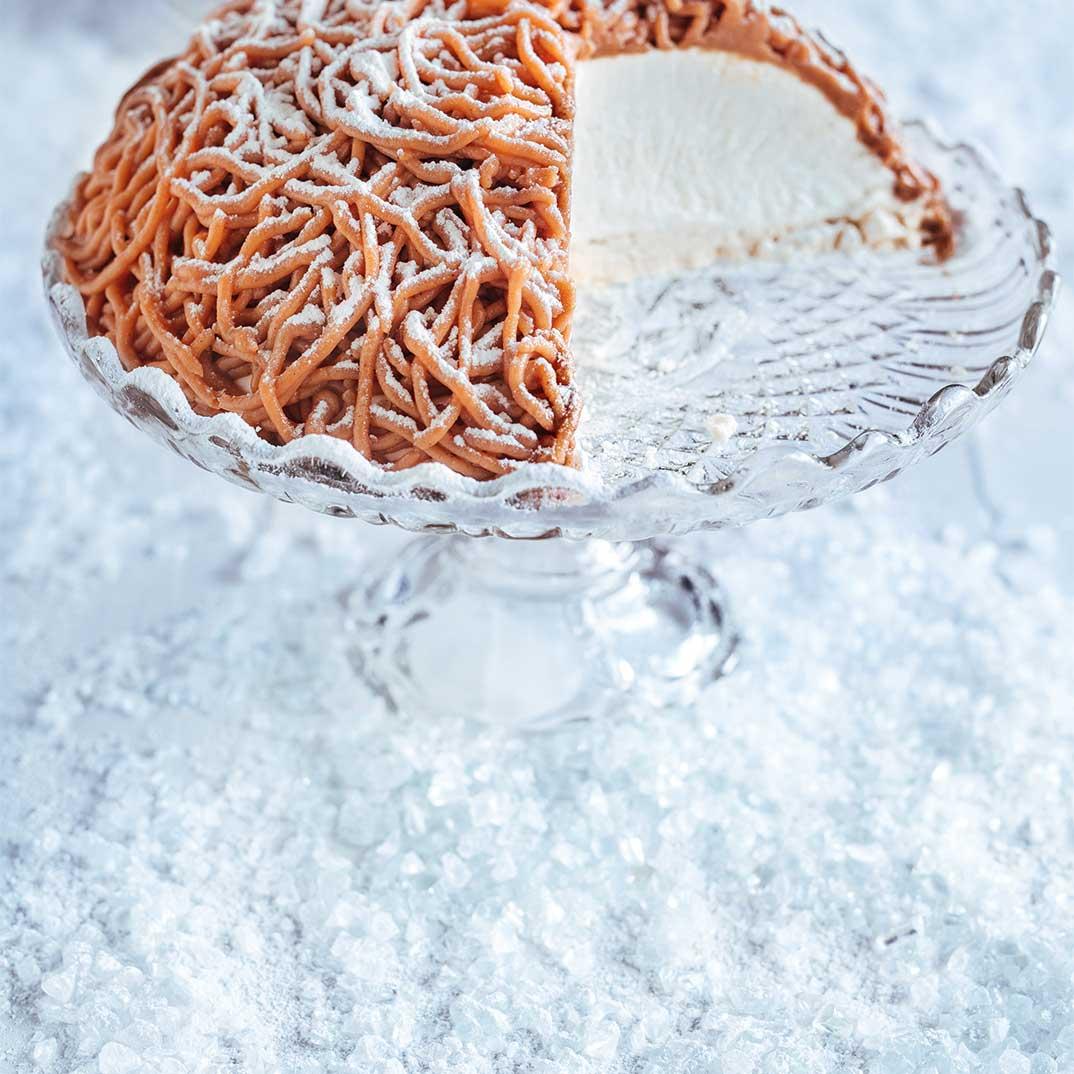 Mont Blanc Chestnut Cake