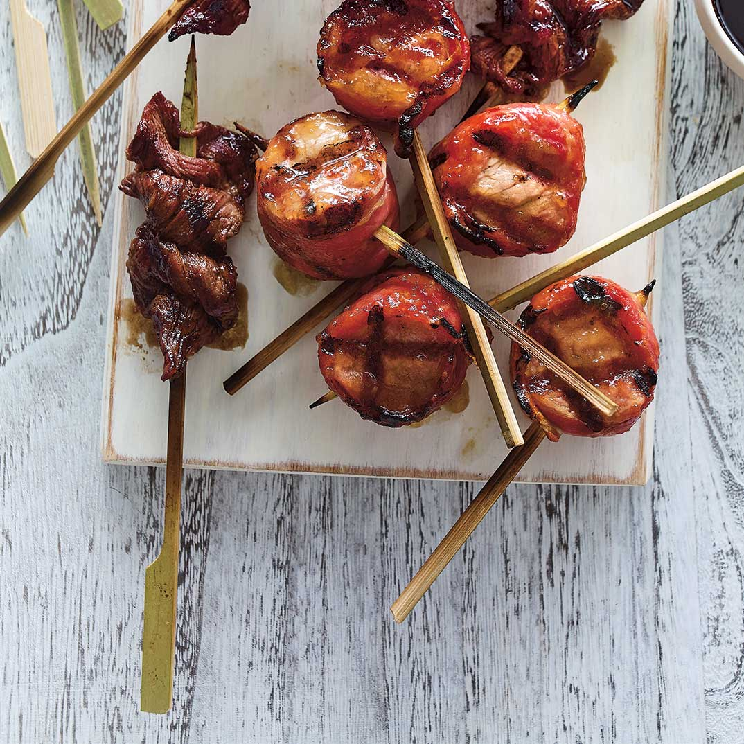 Maple Apple Pork Skewers