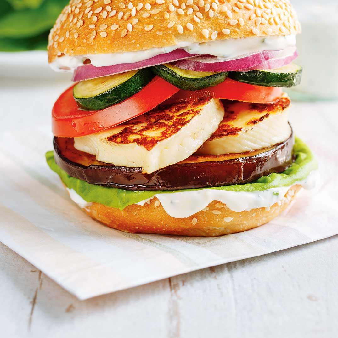 Végé burger au fromage grillé