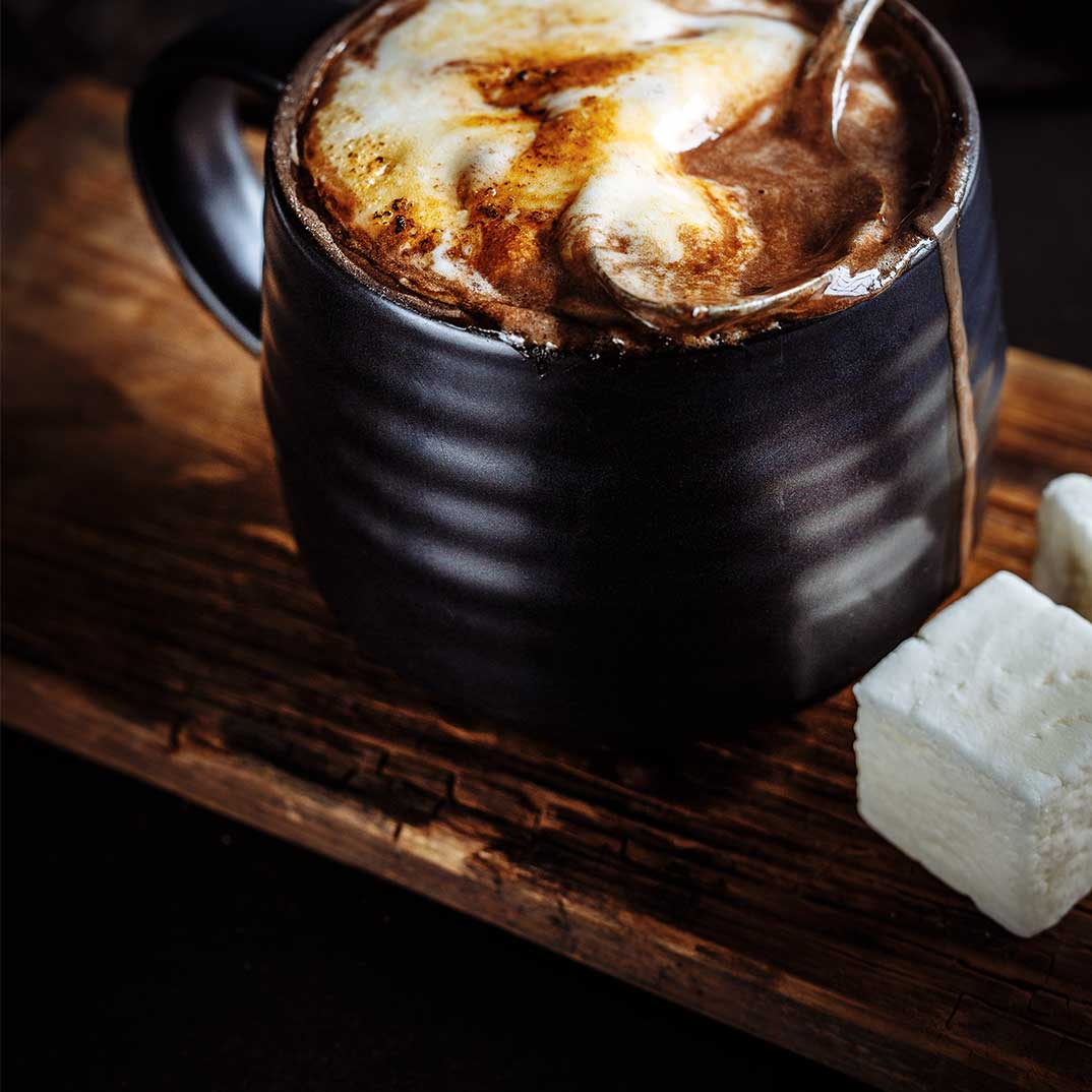 Hot Chocolate with Melted Marshmallows
