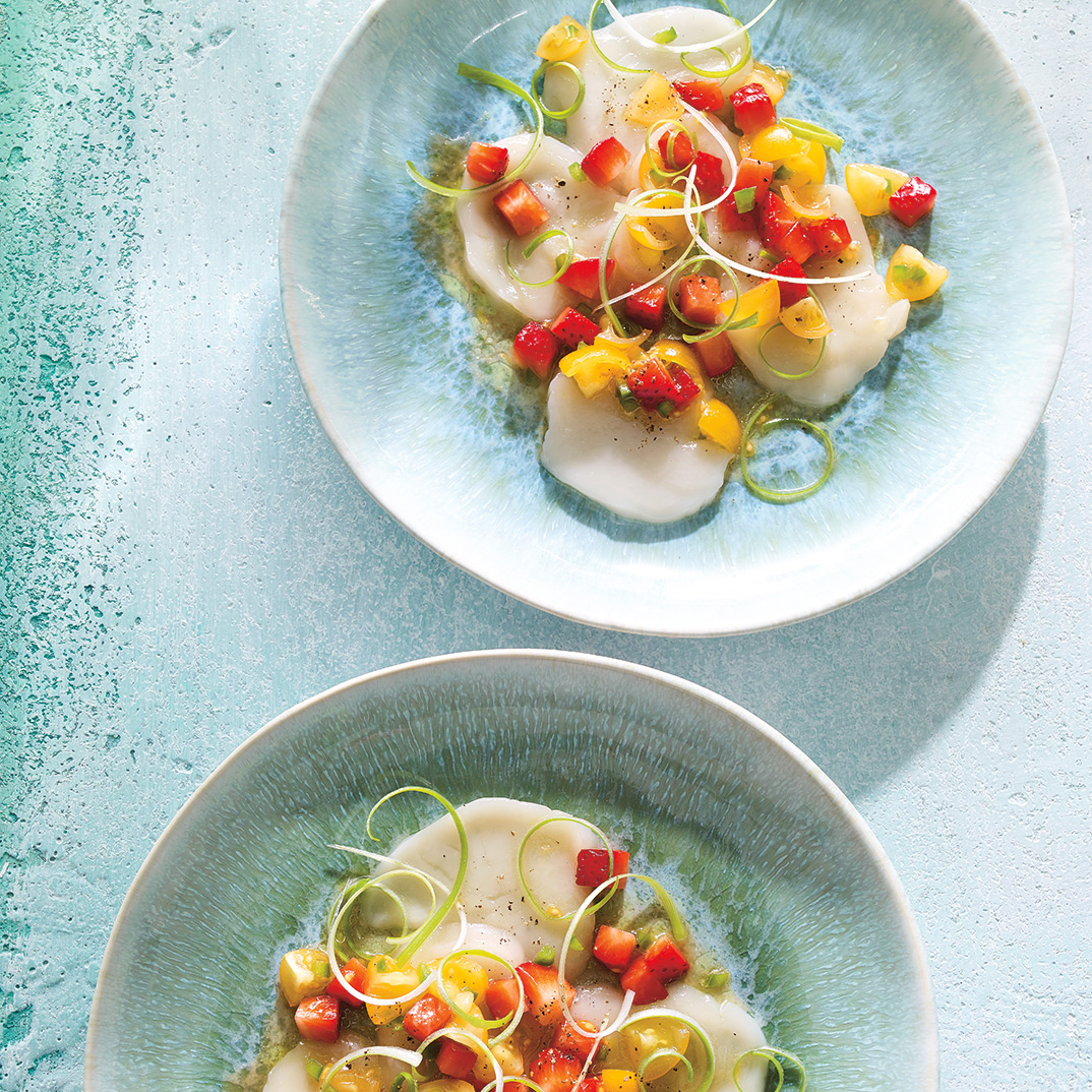 Scallop Crudo with Strawberry Salsa
