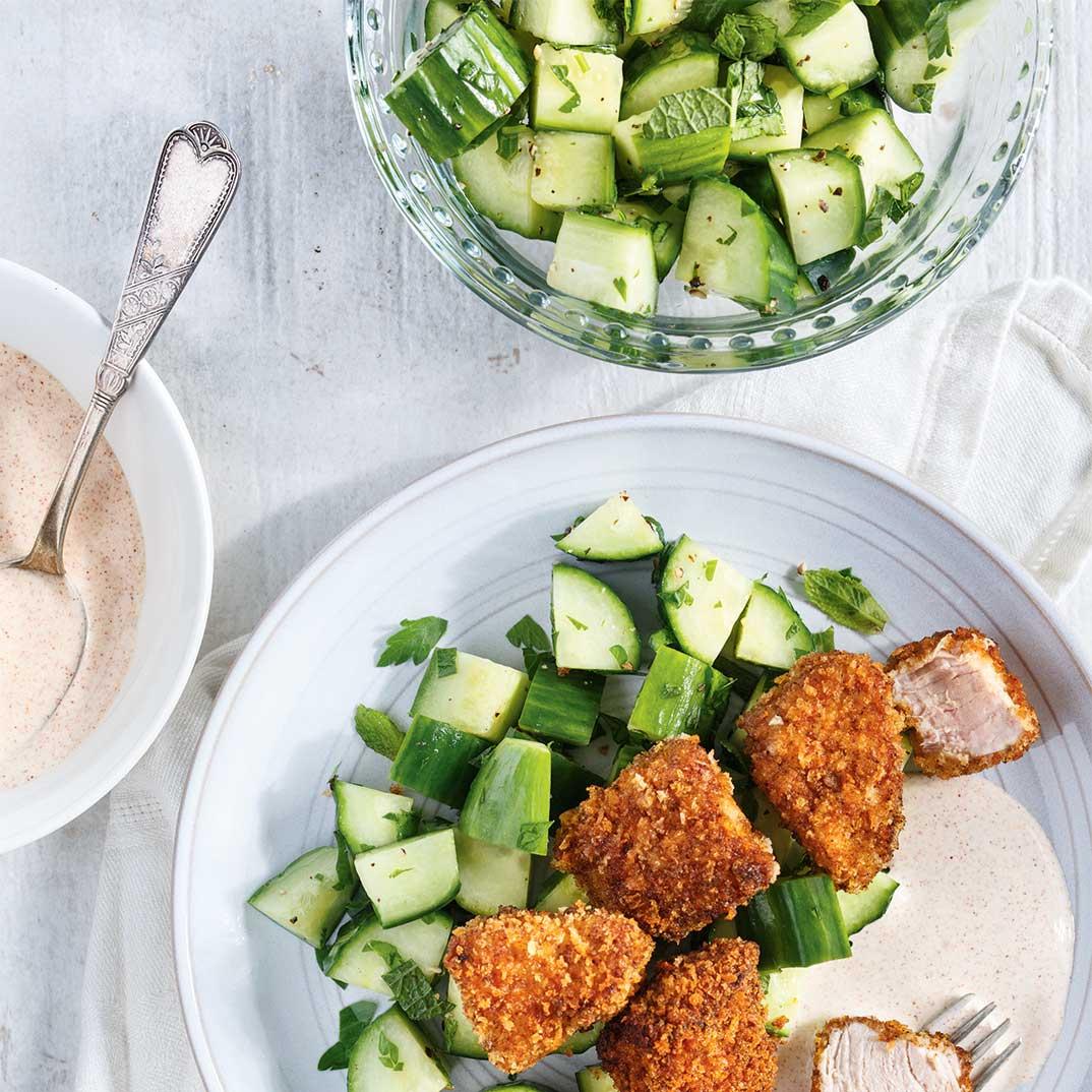 Salade de concombre aux herbes