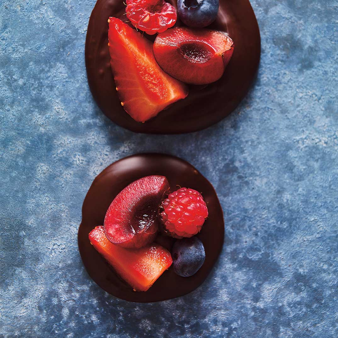 Fresh Berry Mendiants