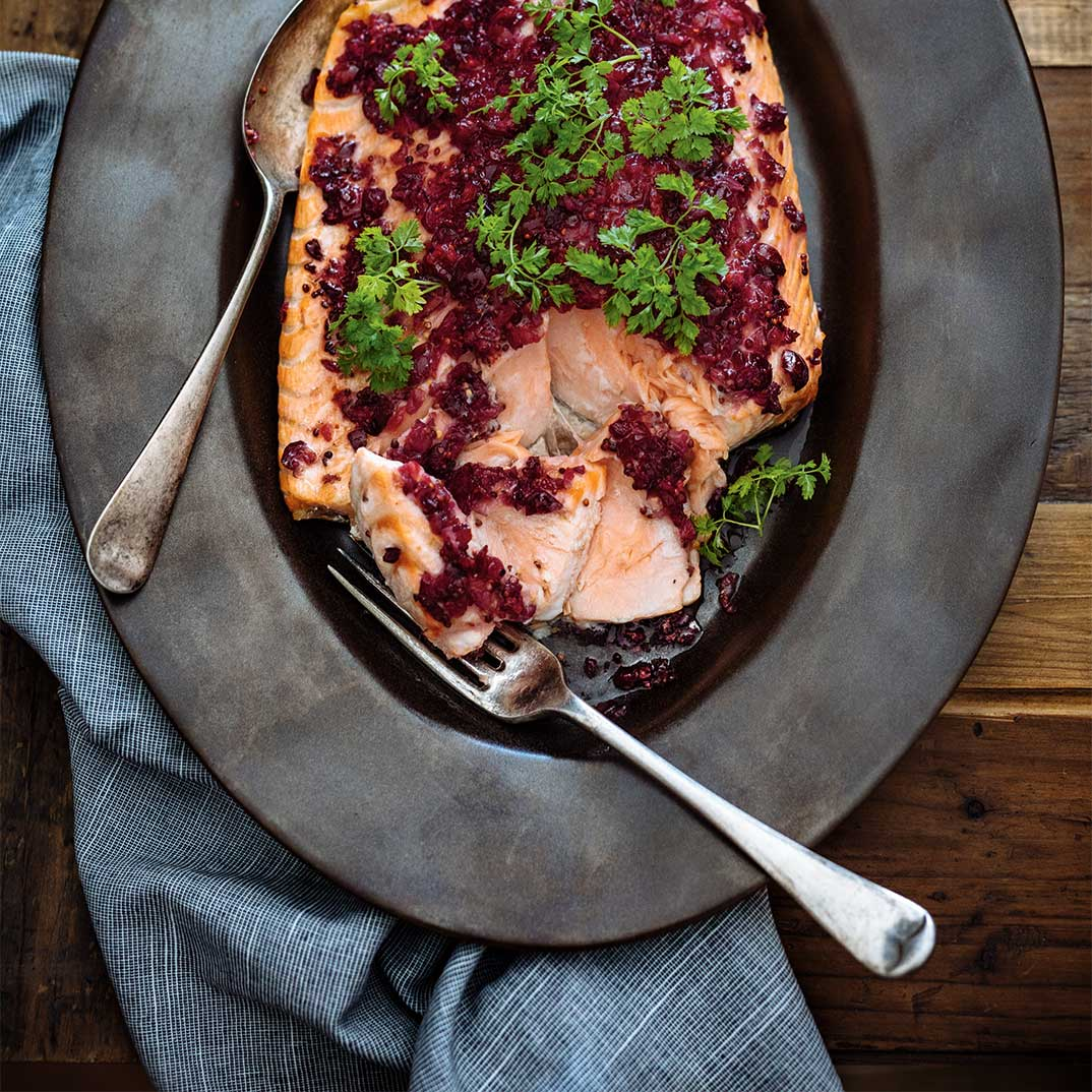 Cranberry Crusted Salmon