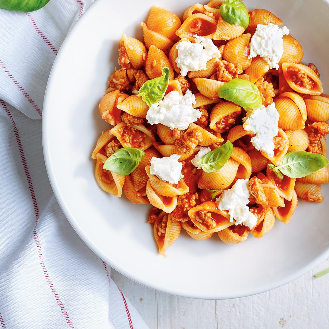 Ricotta and Sausage Pasta