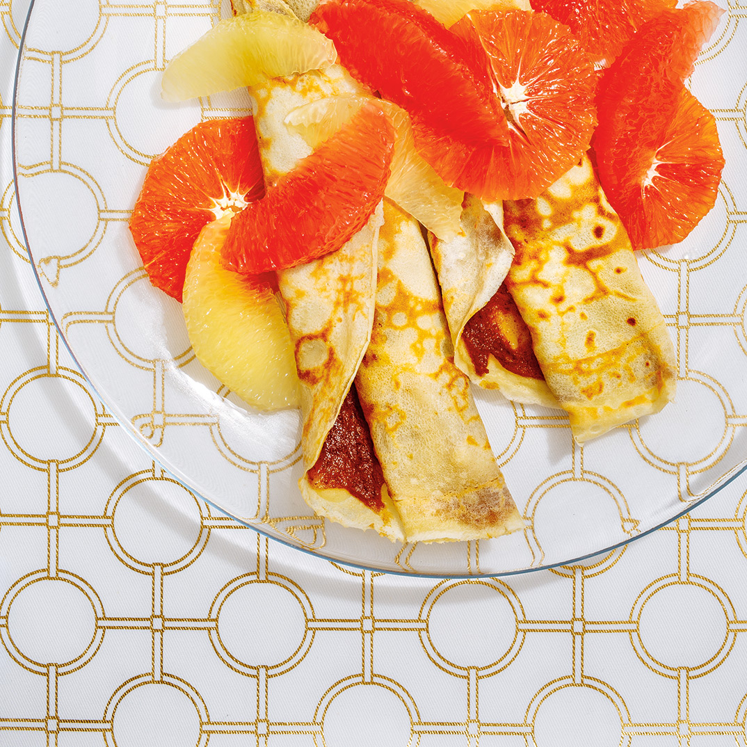 Date and Citrus Crepes
