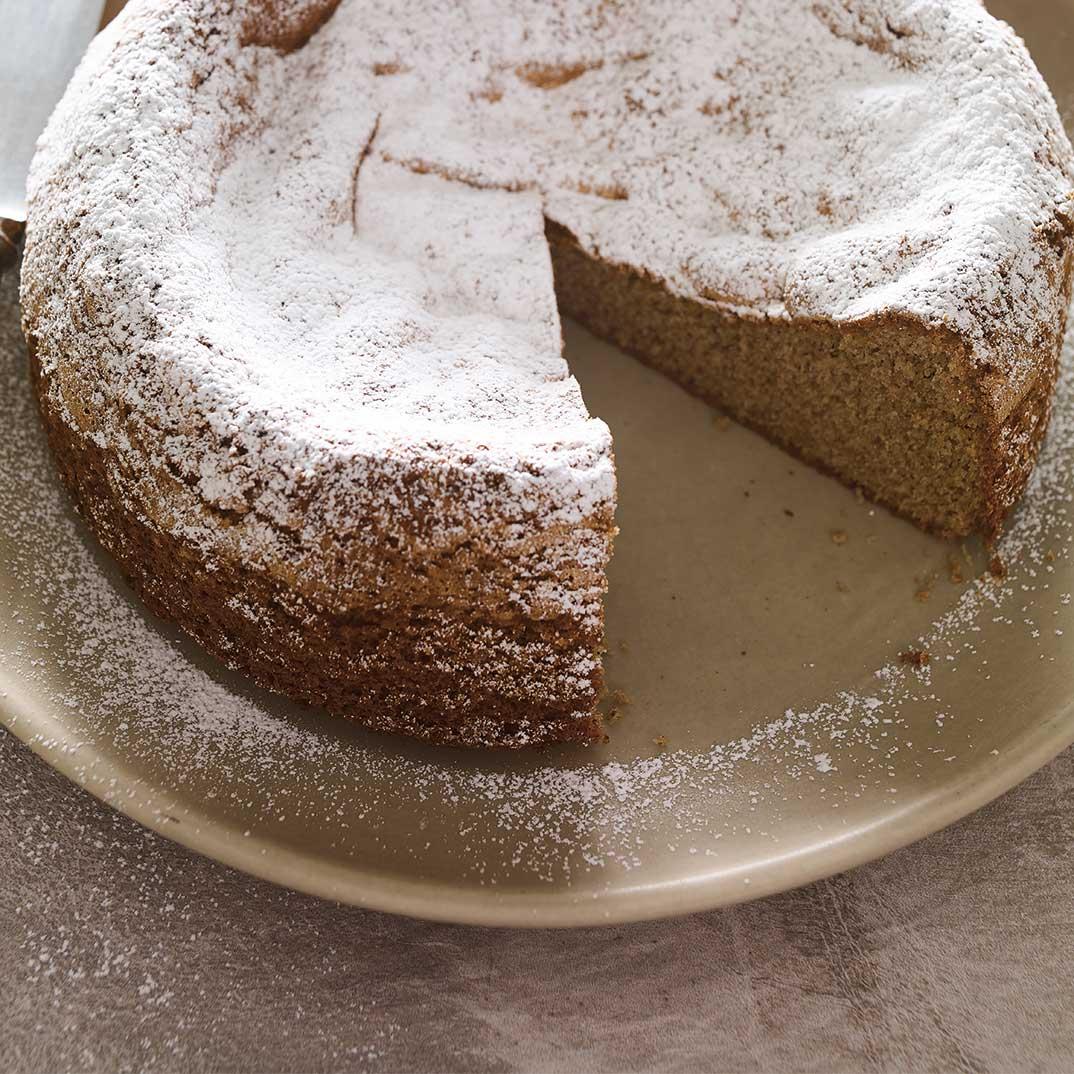 Gâteau éponge au sarrasin et aux marrons