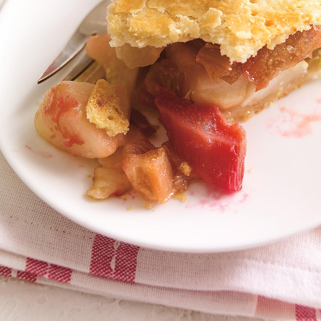Tarte pommes-rhubarbe