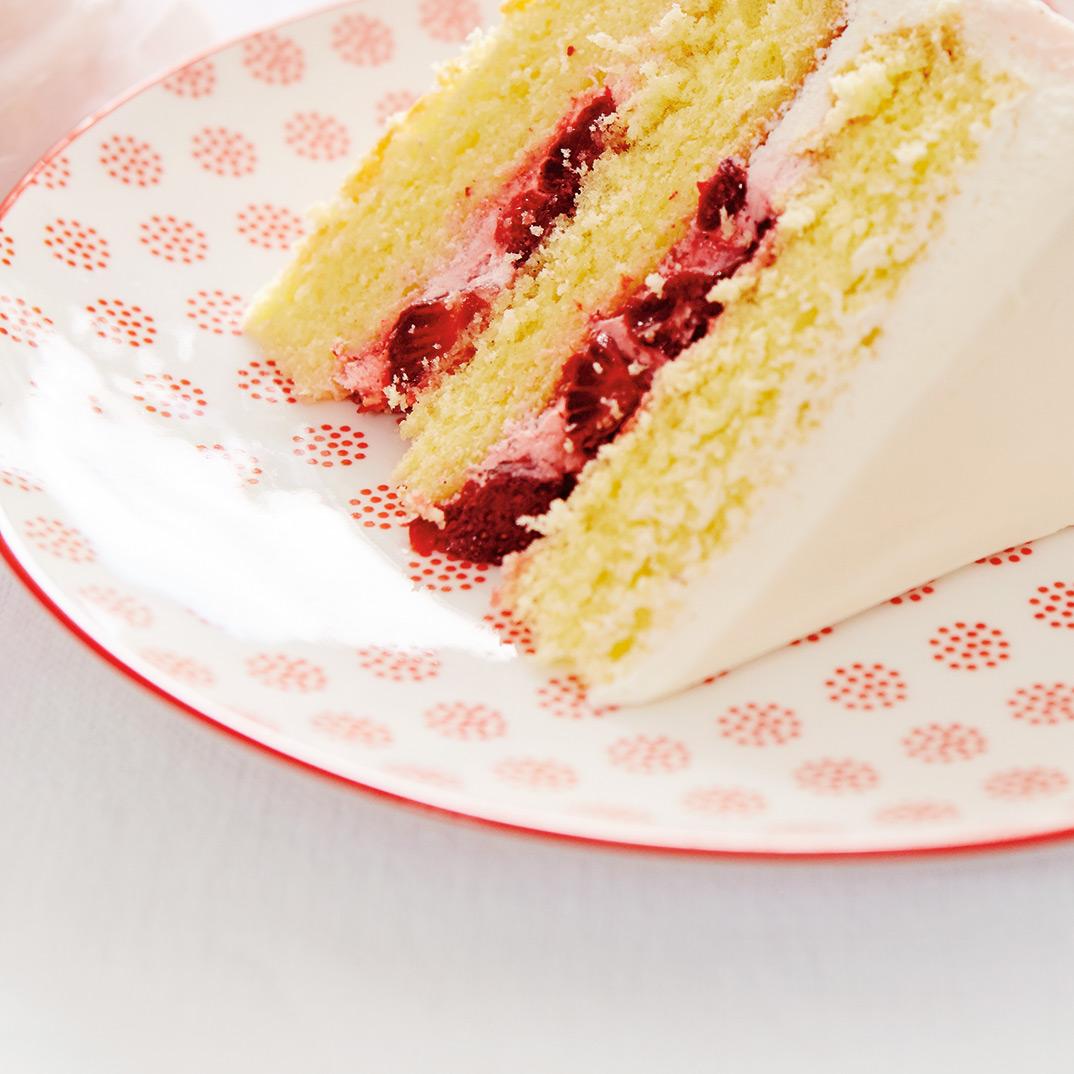 Naked Strawberries-and-Cream Cake