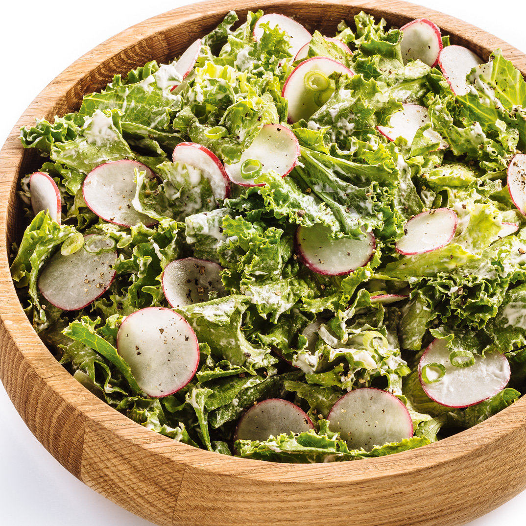 Salade à la crème fouettée