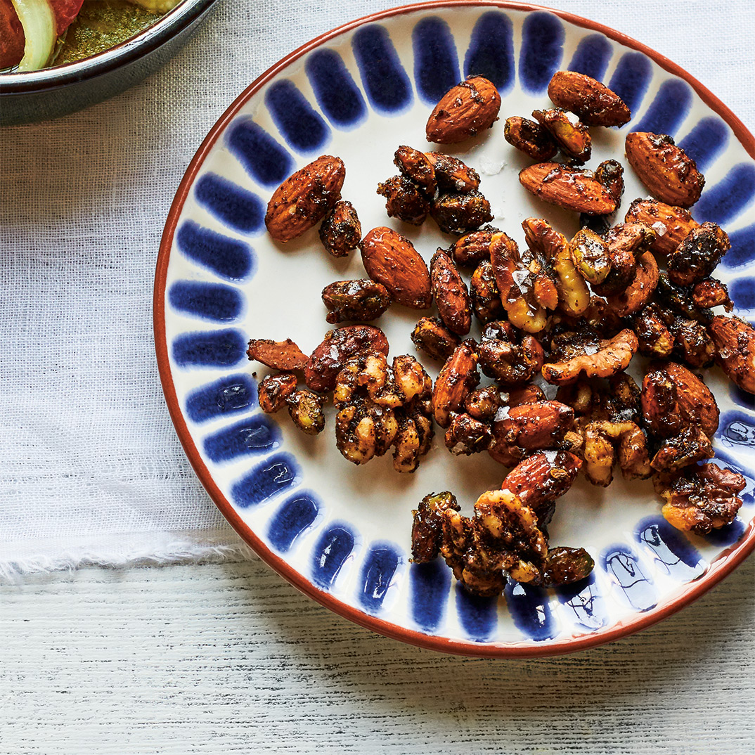 Roasted Nuts with Honey and Sumac