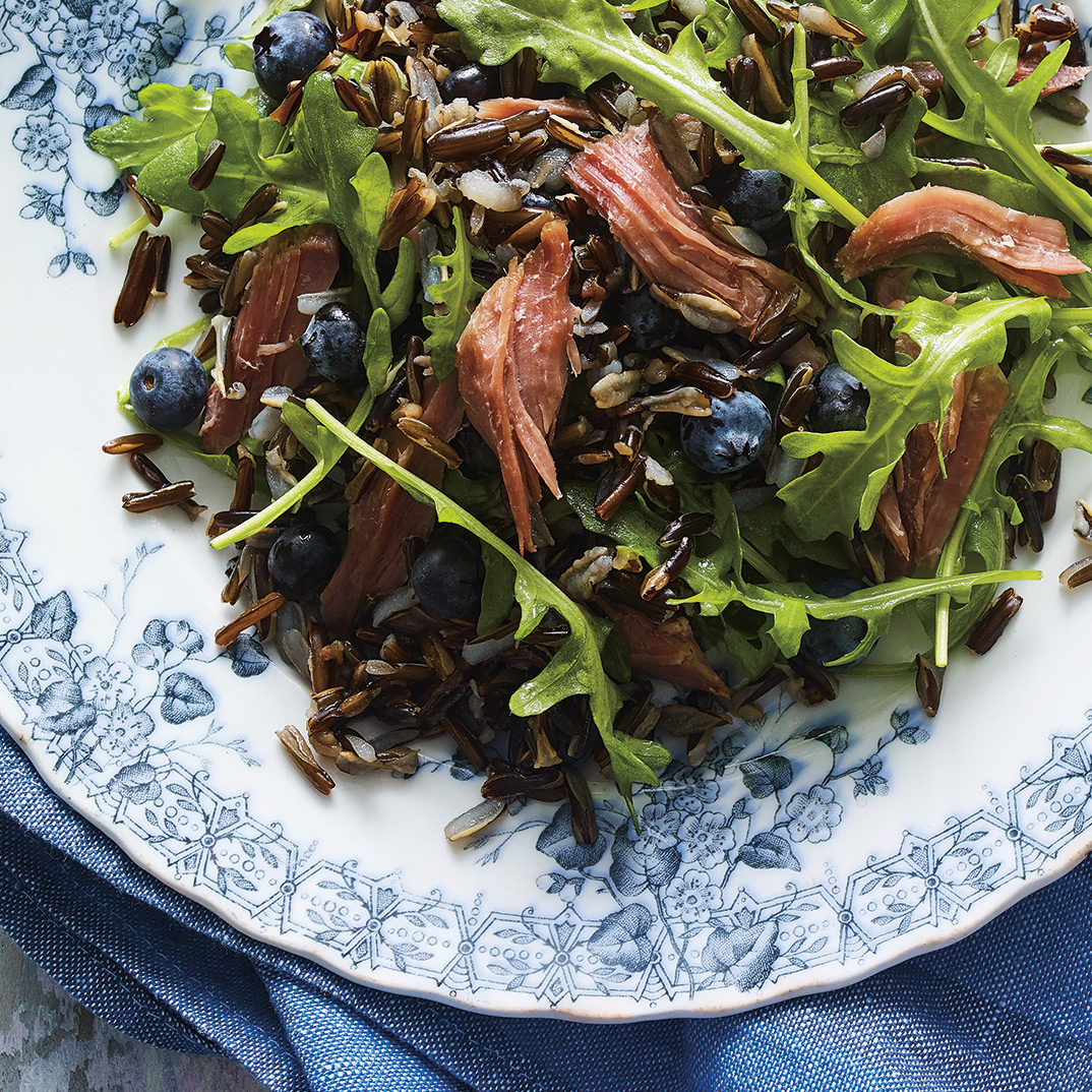 Duck, Blueberry and Wild Rice Salad