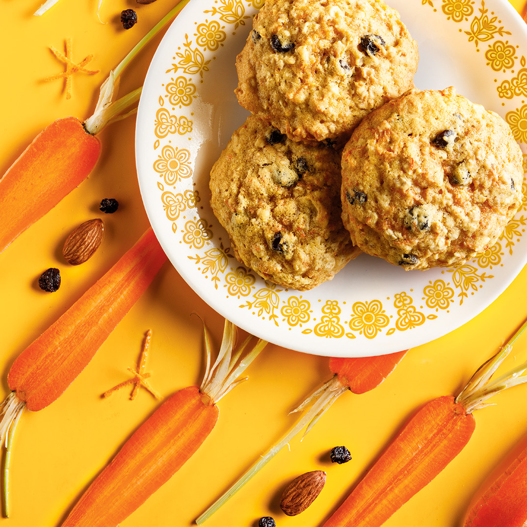 Chewy Carrot and Almond Cookies