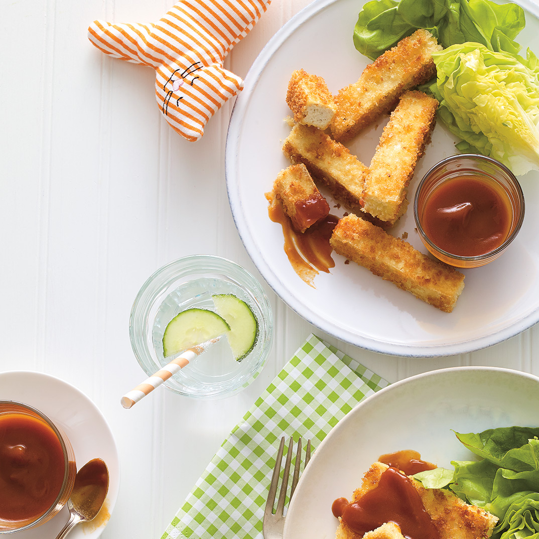 Crispy Tofu with Barbecue Sauce