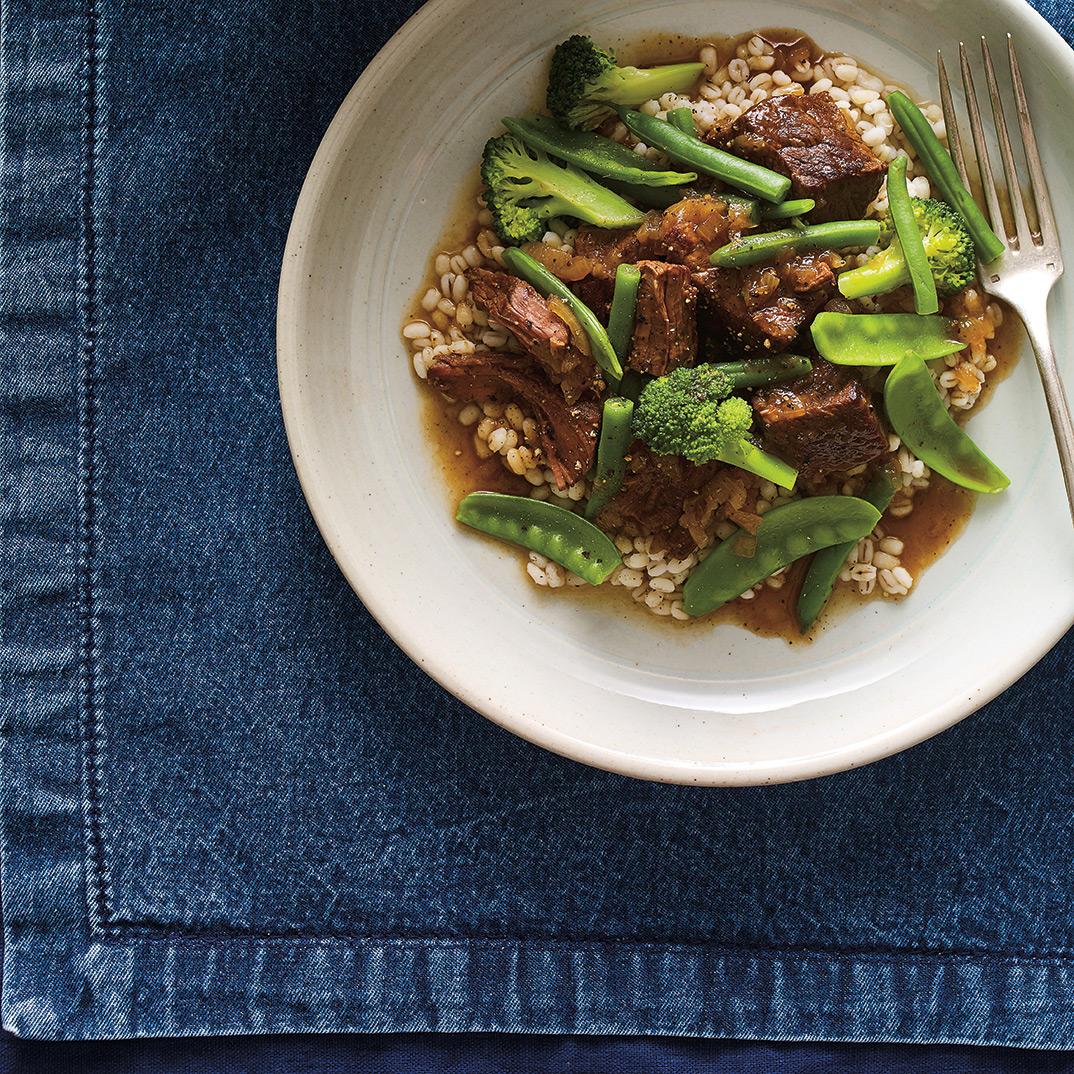 Mijoté de bœuf et légumes verts