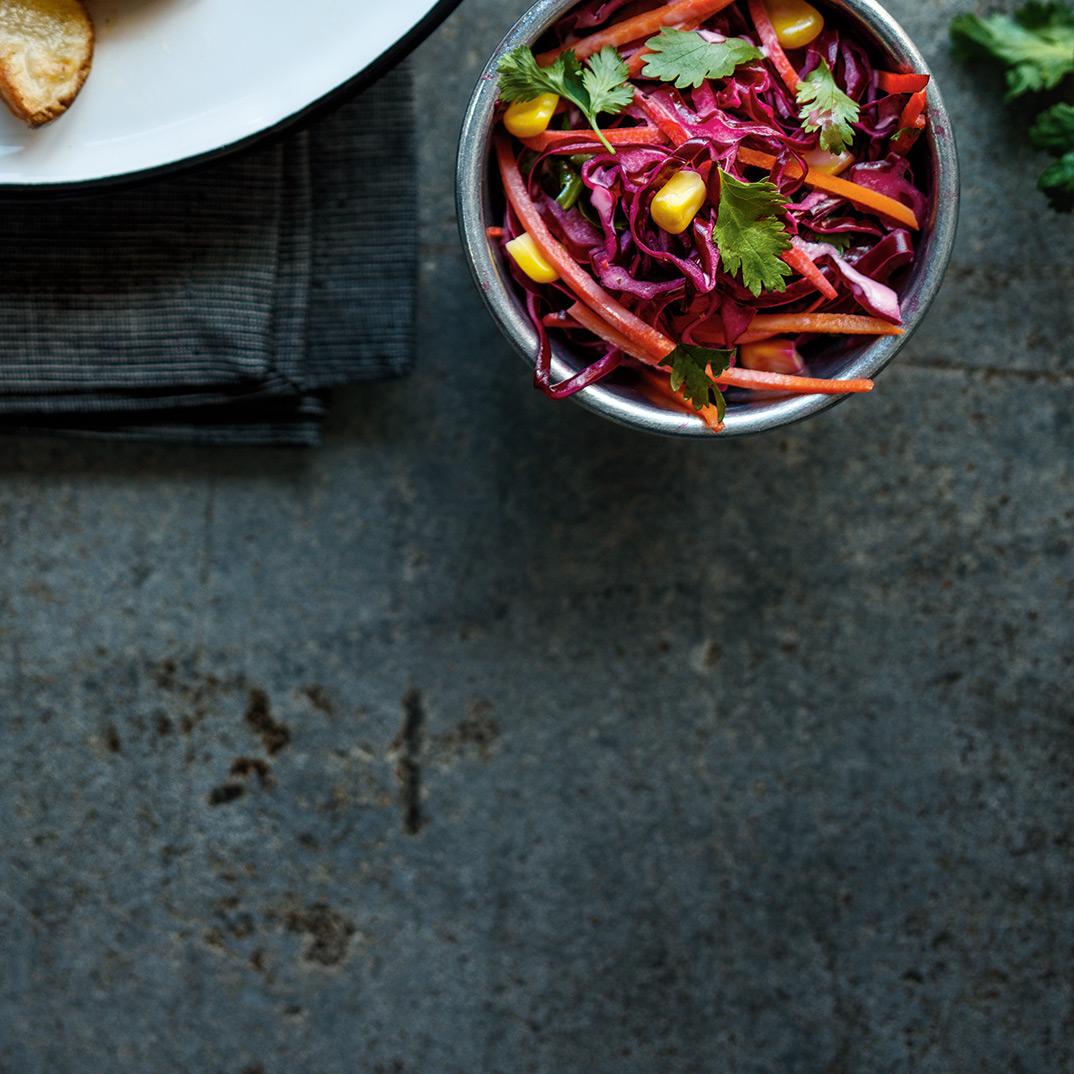 Salade de chou rouge au maïs