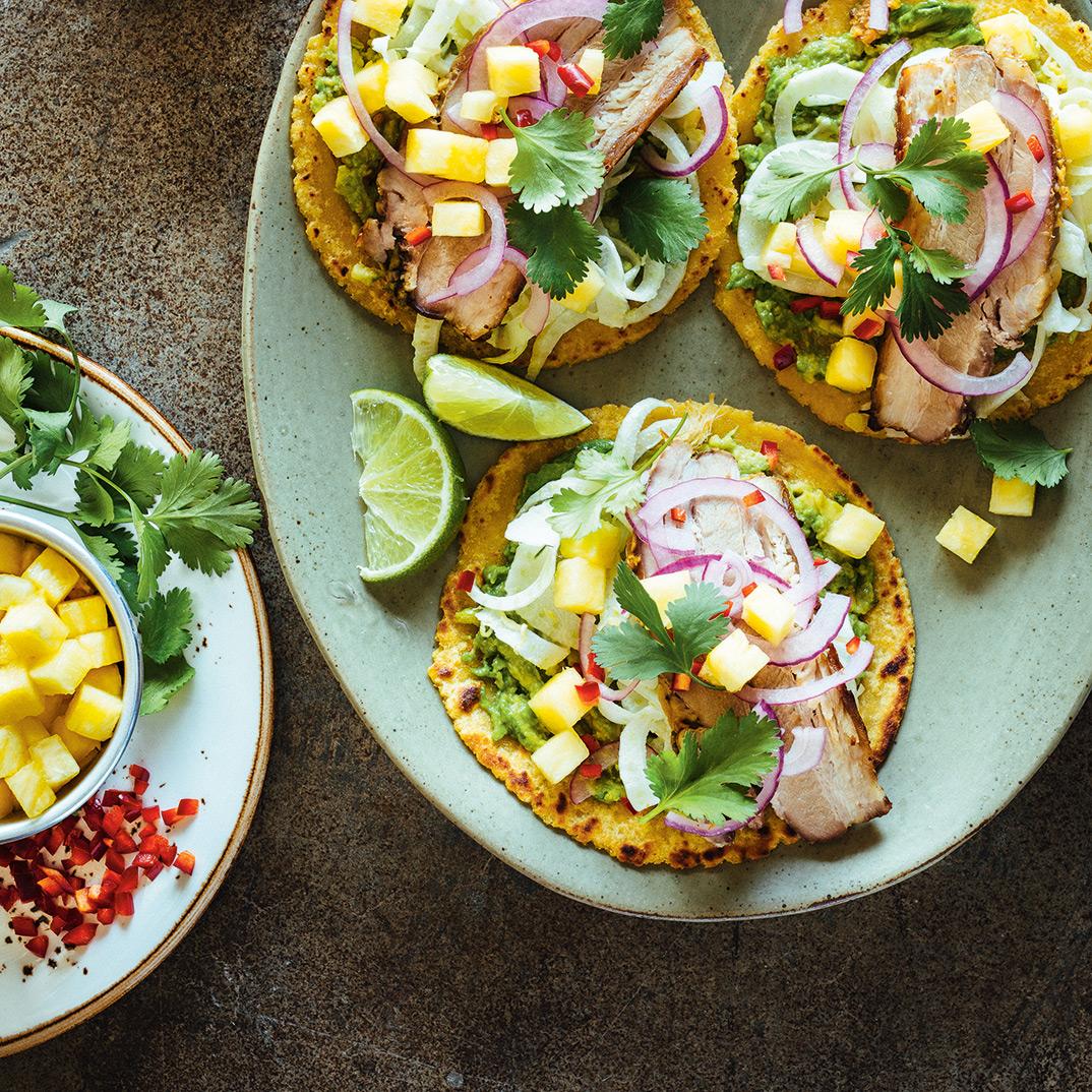Tacos au flanc de porc, au fenouil et à l'ananas