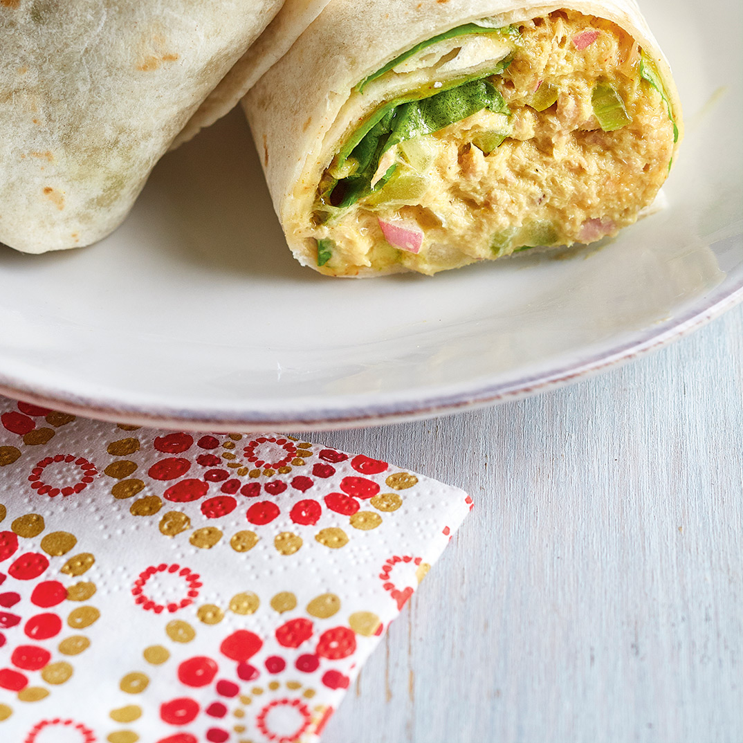 Curried Tuna Salad Wraps