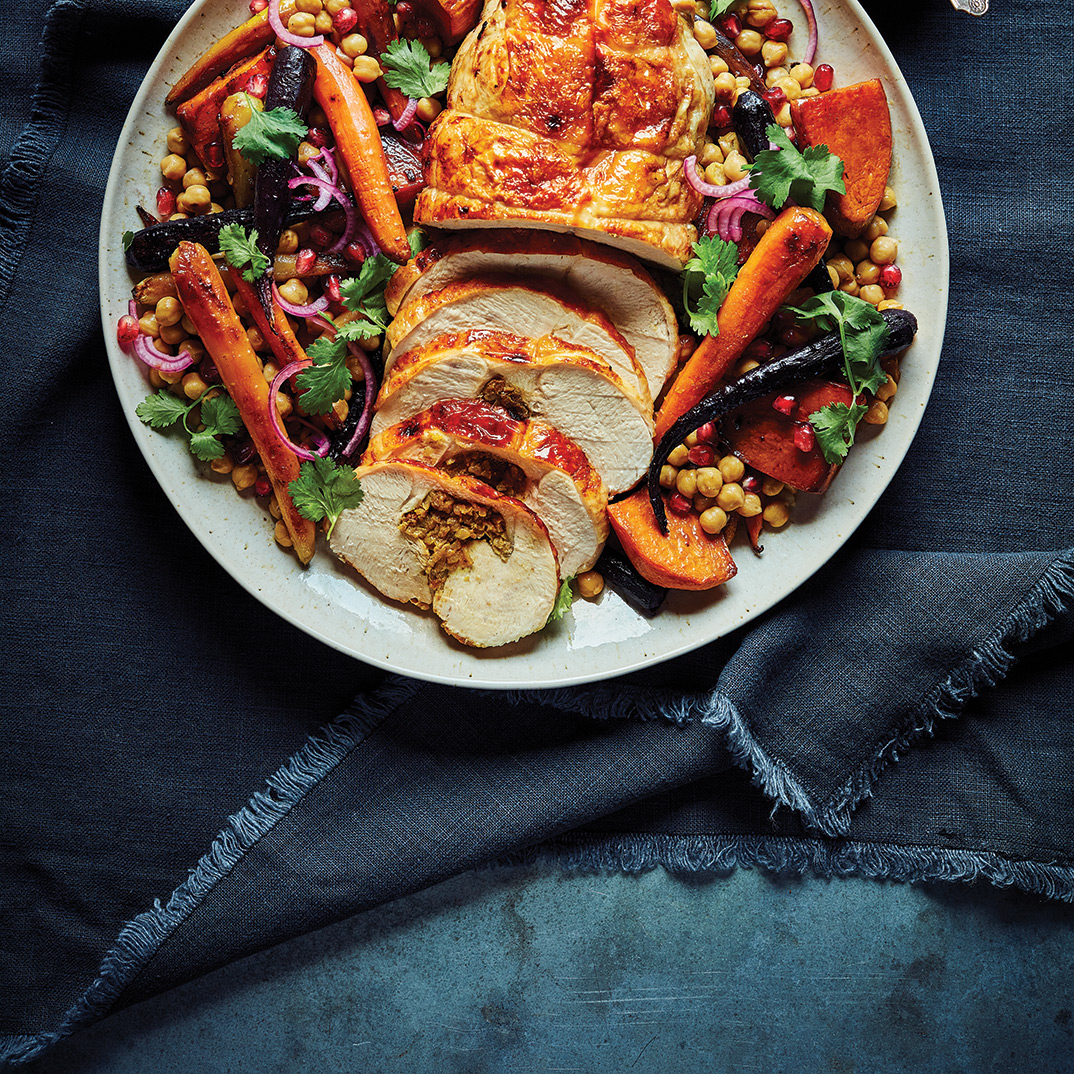 Turkey Roast with Carrots and Spices