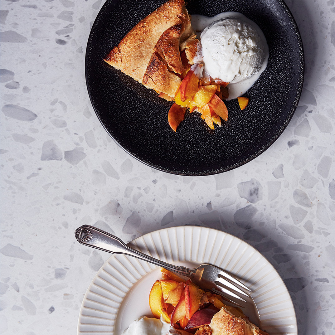 Rustic Nectarine, Peach and Apricot Tart