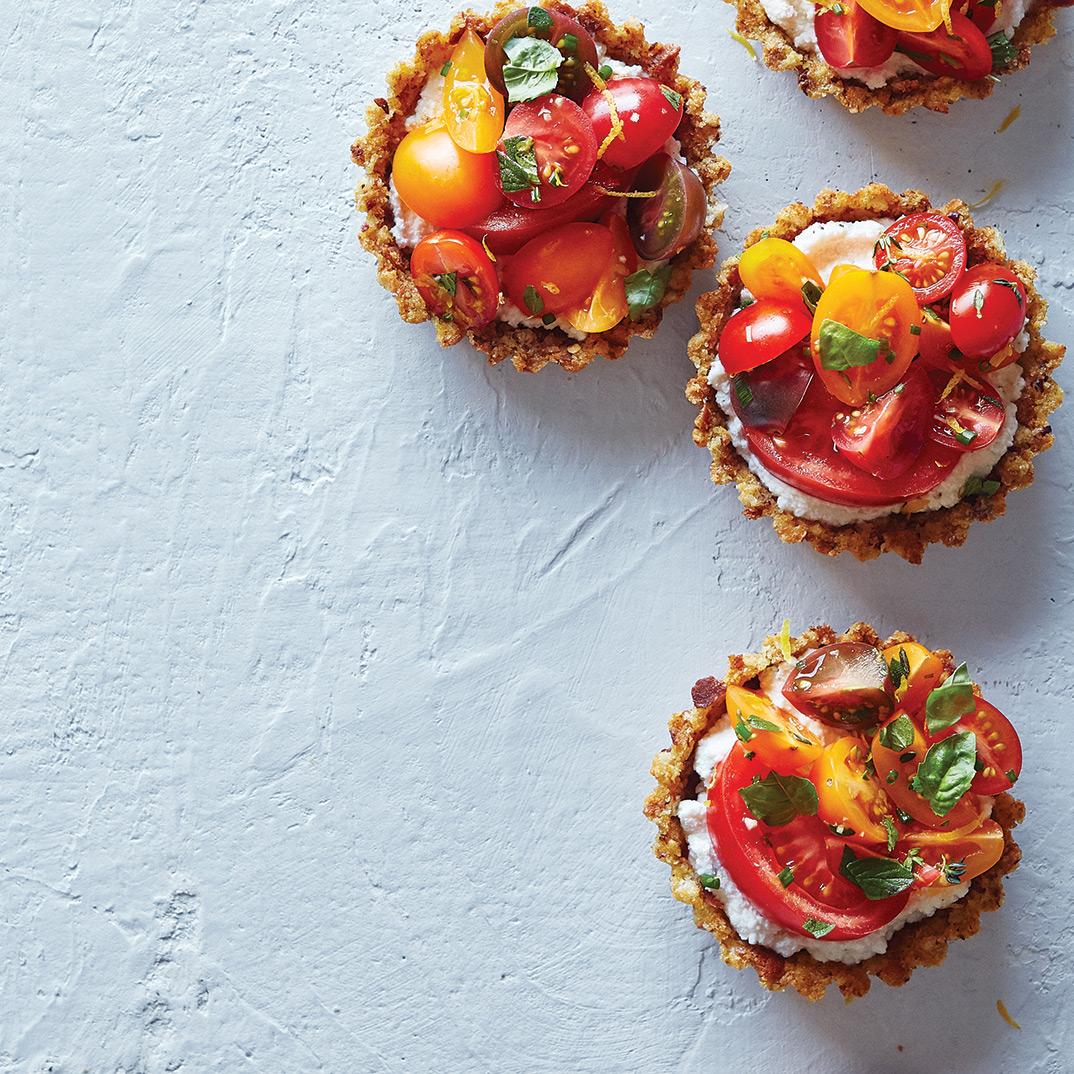 Tartelettes aux tomates et à la ricotta