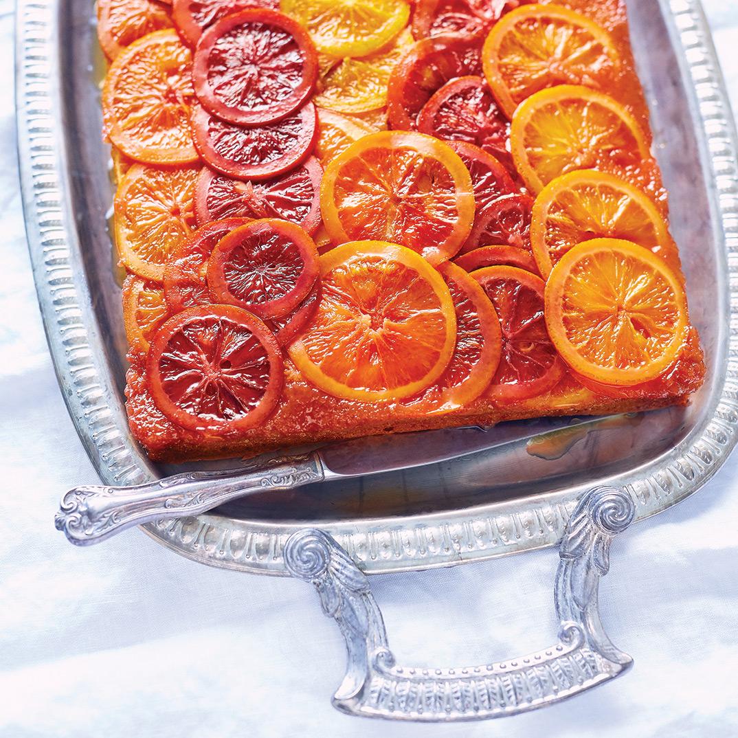 Upside-Down Candied Orange Cake