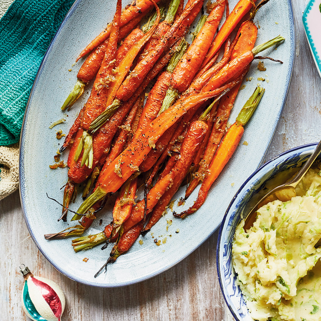 Ginger and Honey-Roasted Carrots