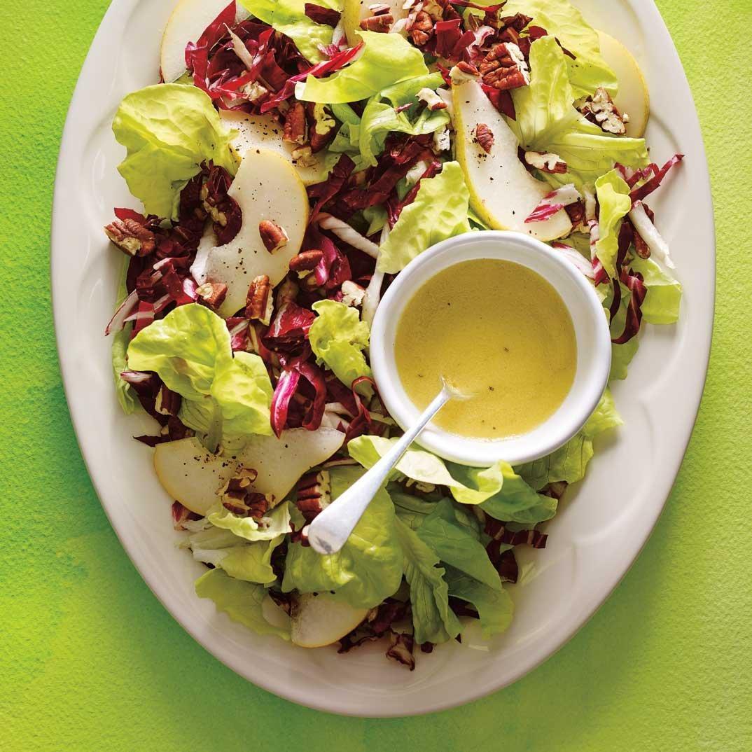 Radicchio, Pear and Pecan Salad