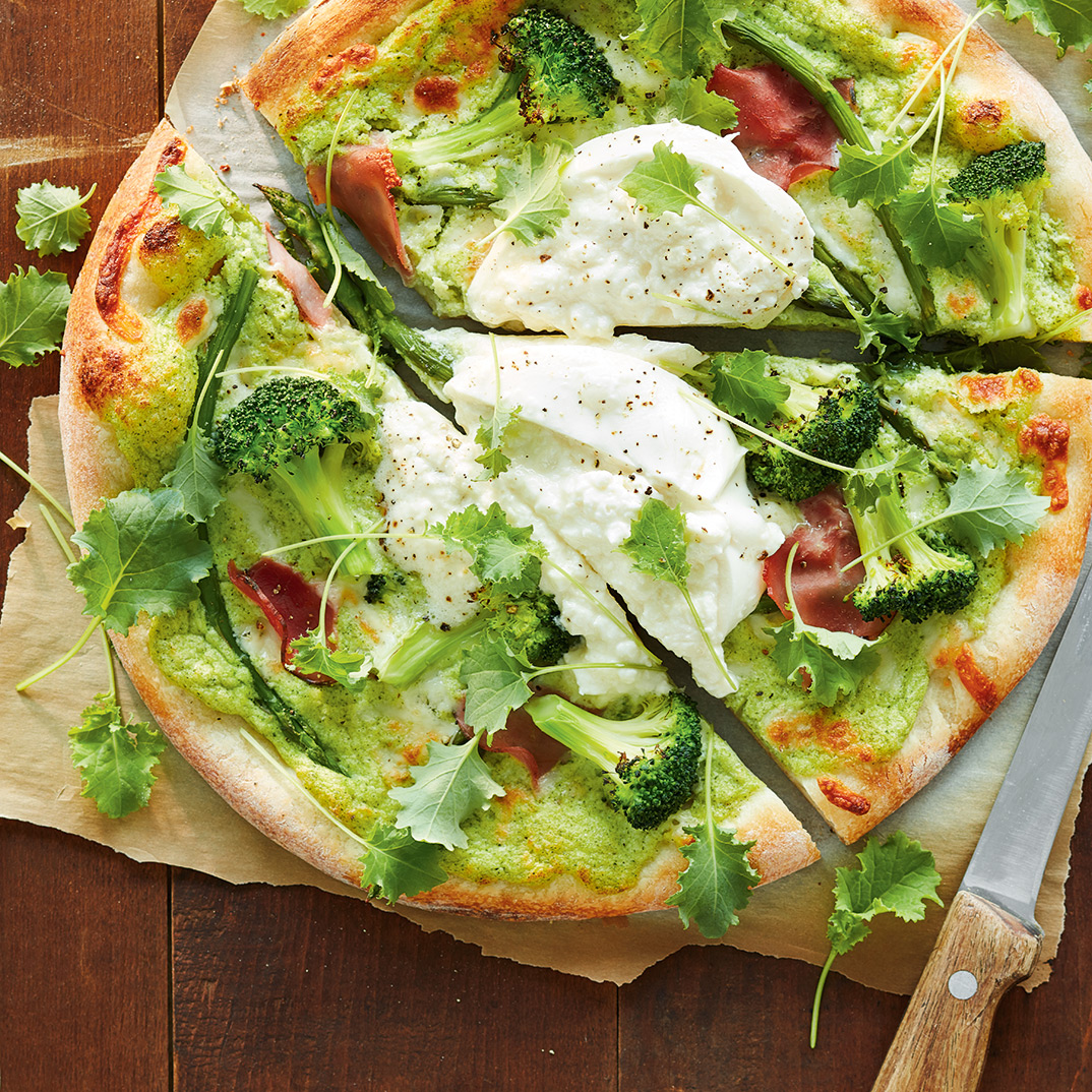 Creamy Broccoli Pizza