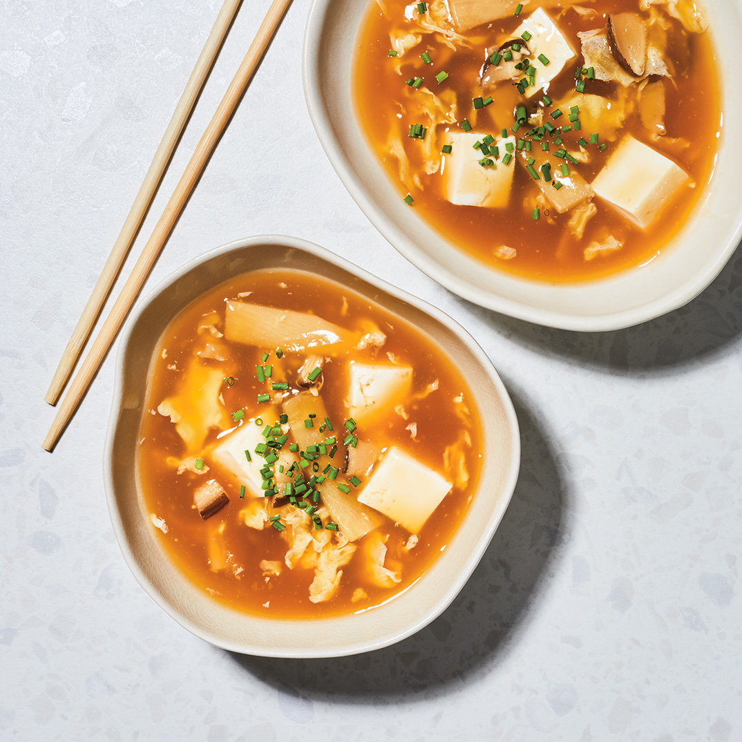 Pressure Cooker Hot and Sour Tofu Soup