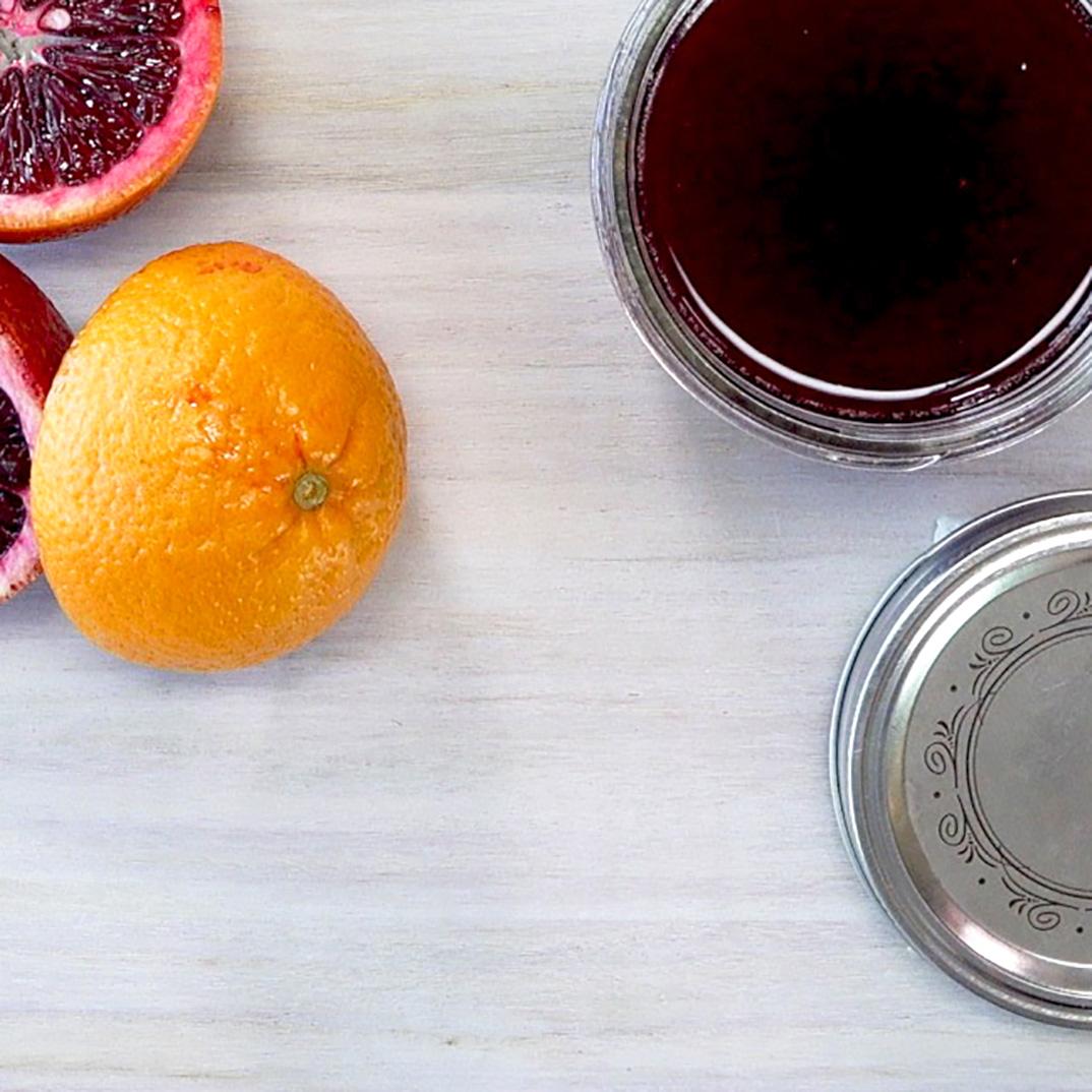 Sirop d'oranges sanguines