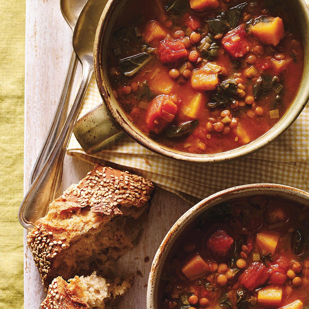 Pressure Cooker Lentil and Kale Soup