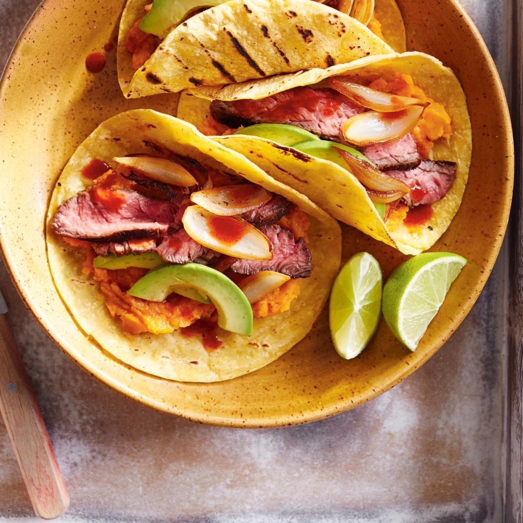 Tacos de bœuf grillé aux patates douces