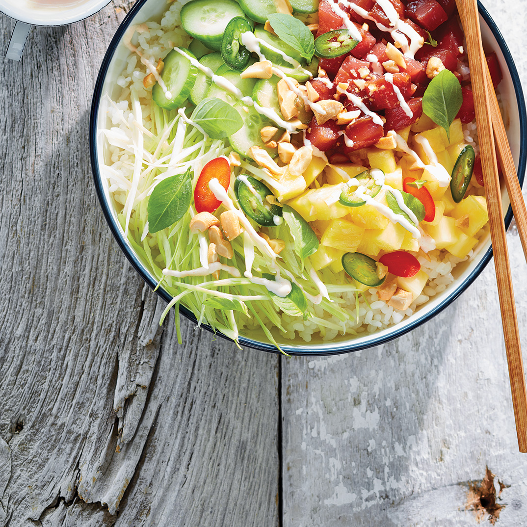 Tuna and Pineapple Poke Bowl