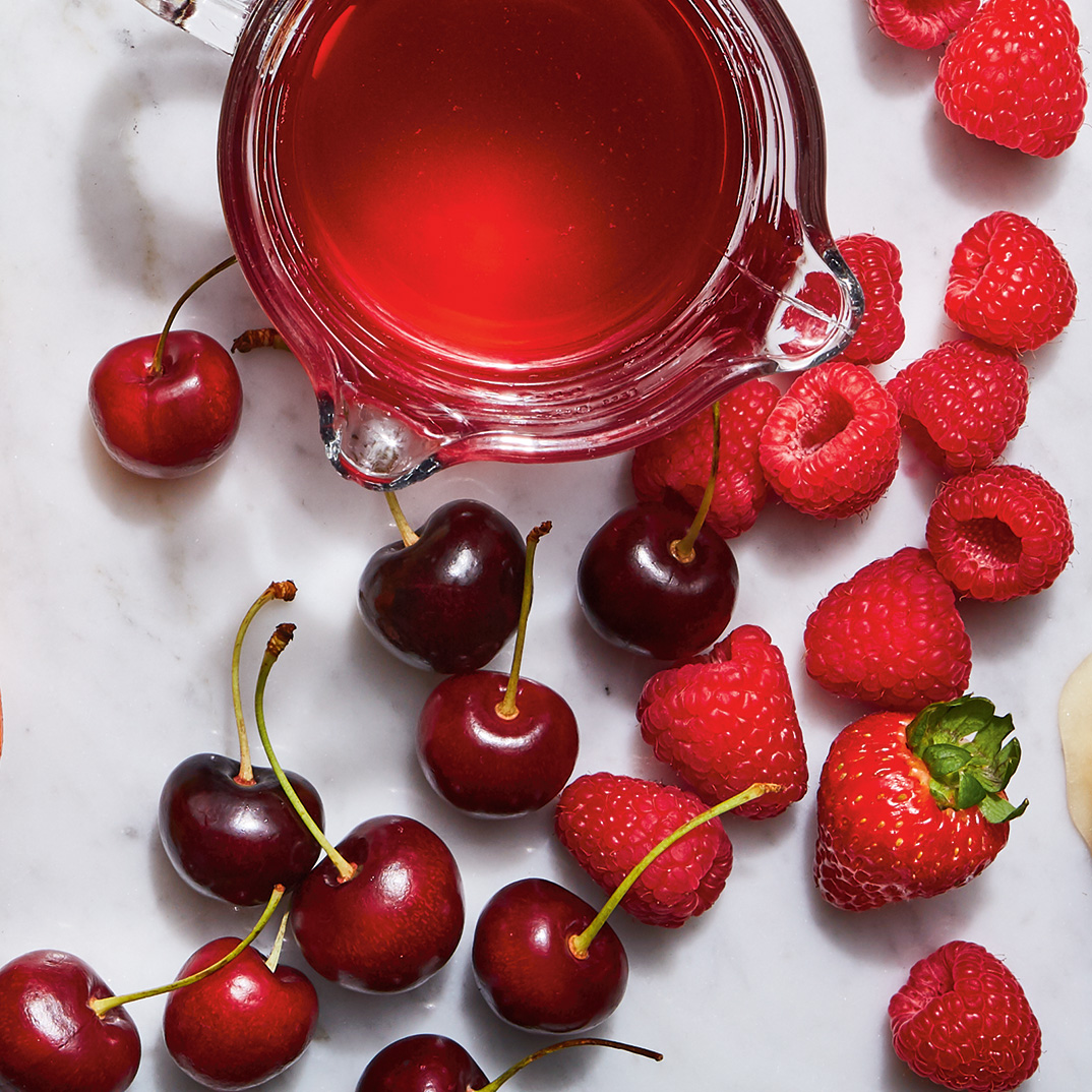 Sirop de fruits rouges