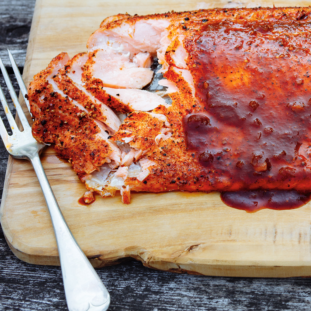 Whole Grilled Salmon Fillet
