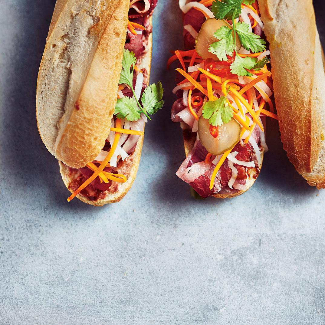 Smoked Meat Banh Mi Sandwich