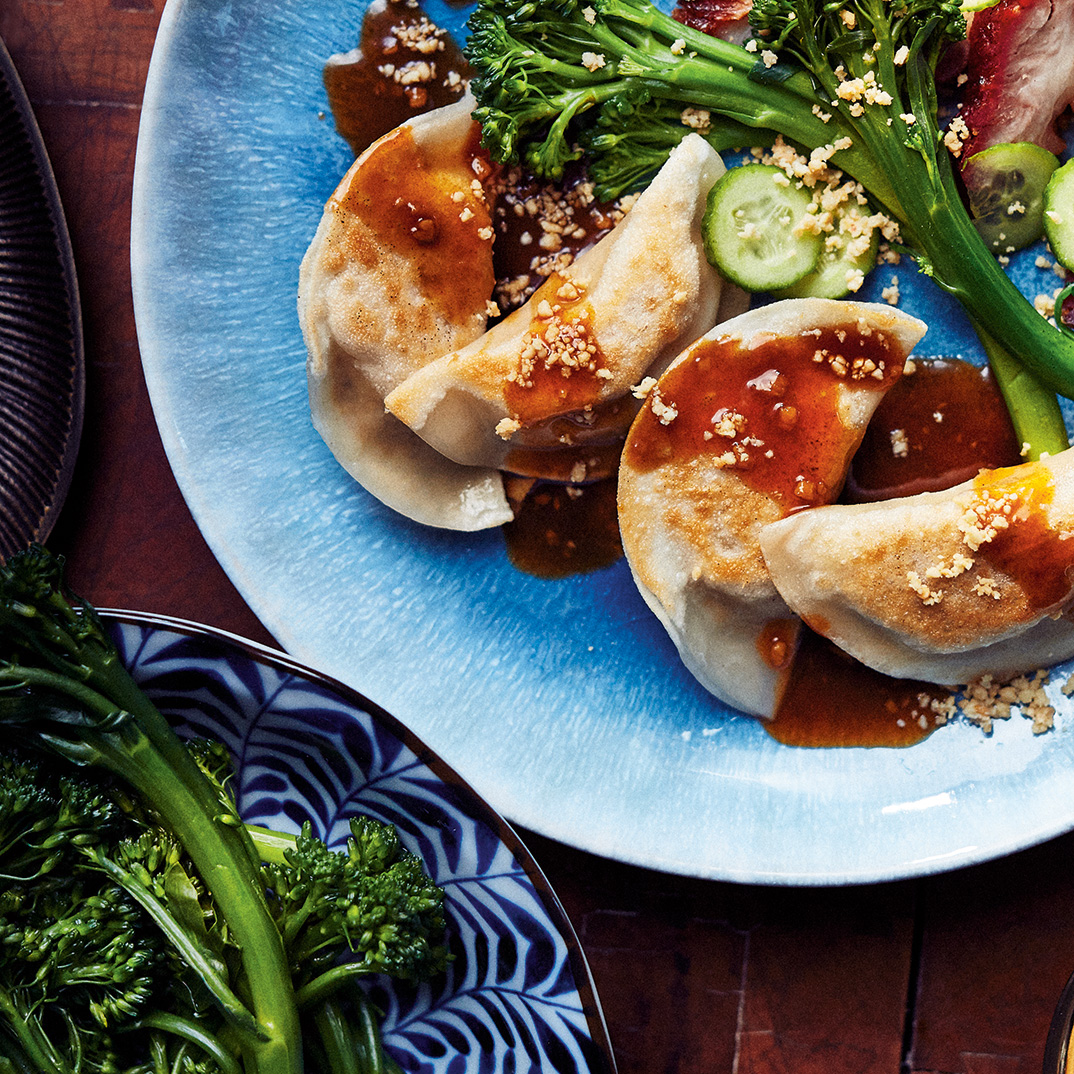 Tofu and Mushroom Dumplings