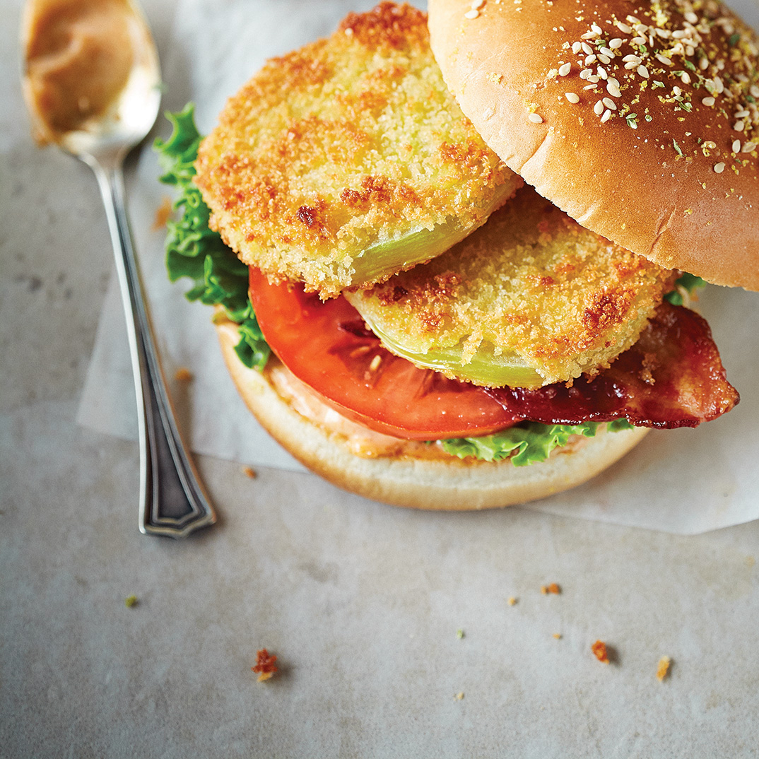 Fried Green Tomato Burgers