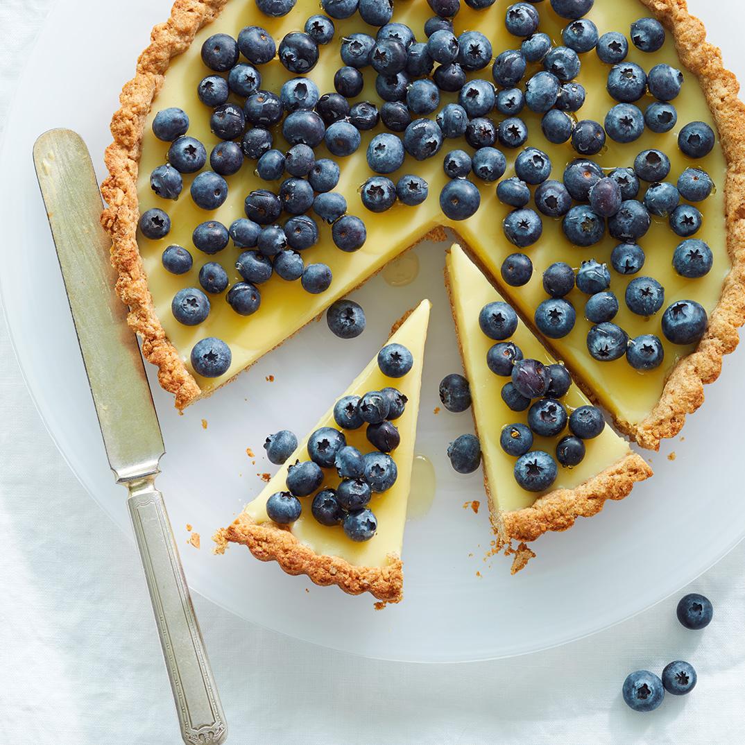 Tarte aux bleuets et à la crème de lait de beurre