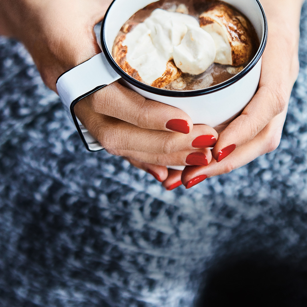Hot Chocolate with Apricot Whipped Cream