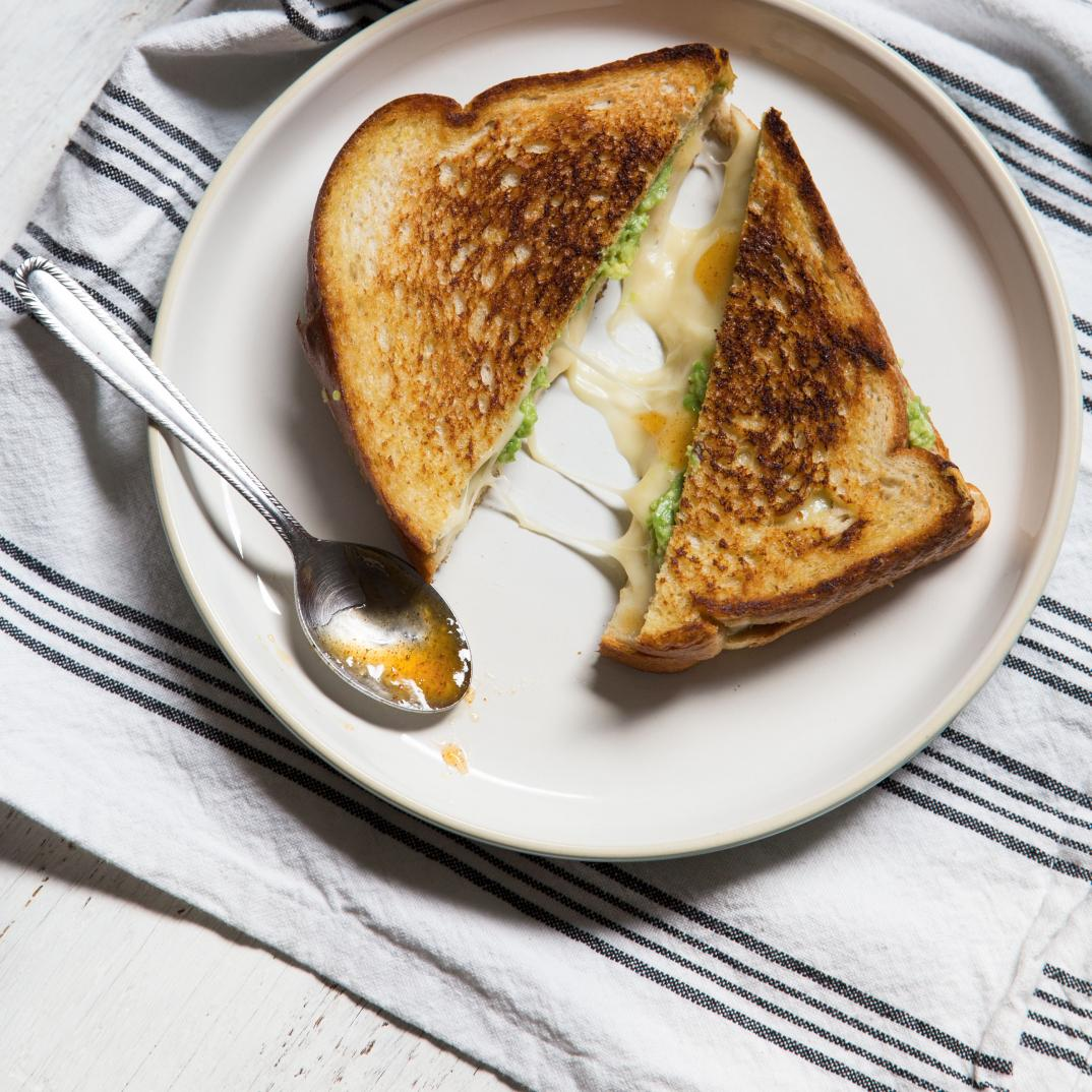 Grilled Cheese Sandwich with Avocado