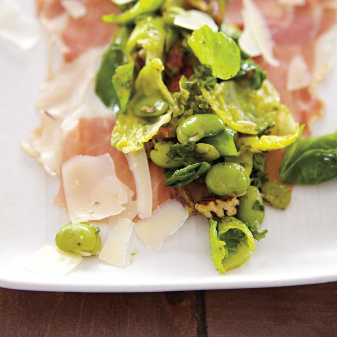David Forbes' Fava Bean, Prosciutto and Brussels Sprouts Salad