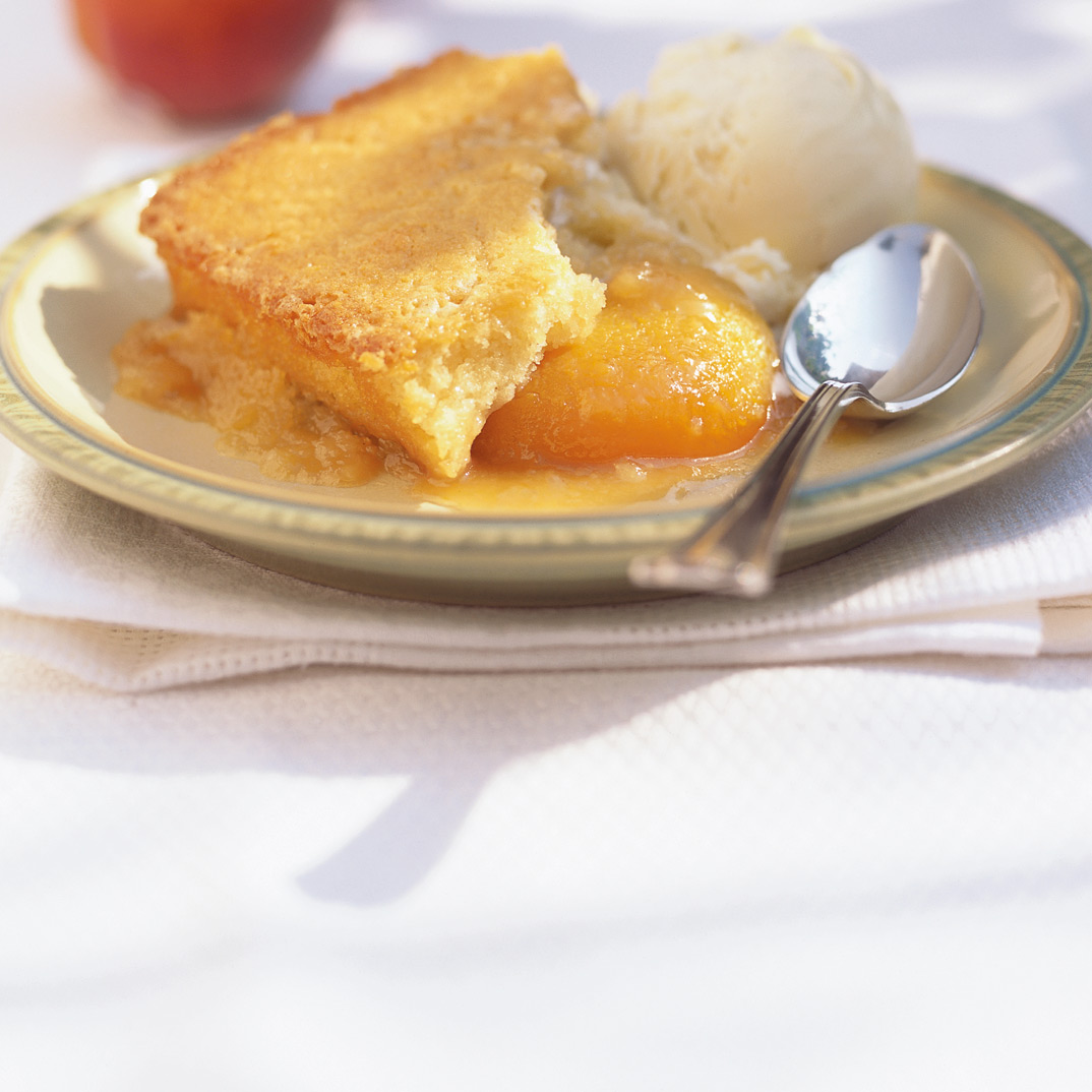 Maple and Peach Pudding Cake