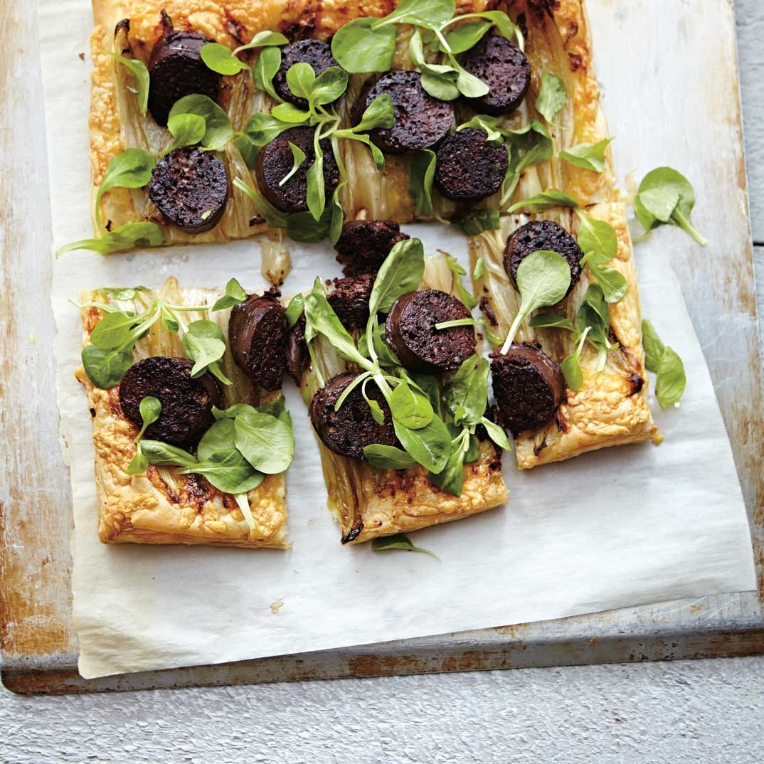 Endive and Blood Sausage Pie