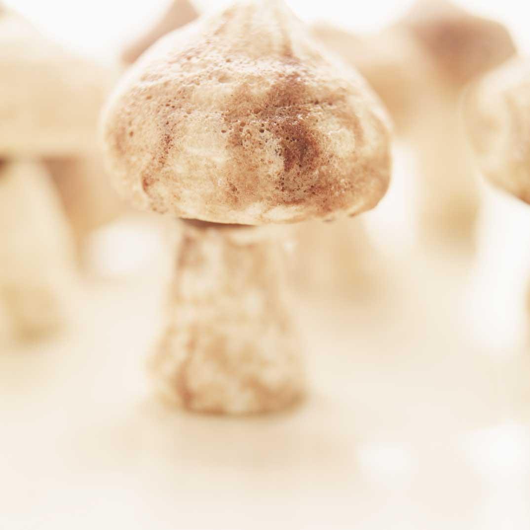 Champignons en meringue