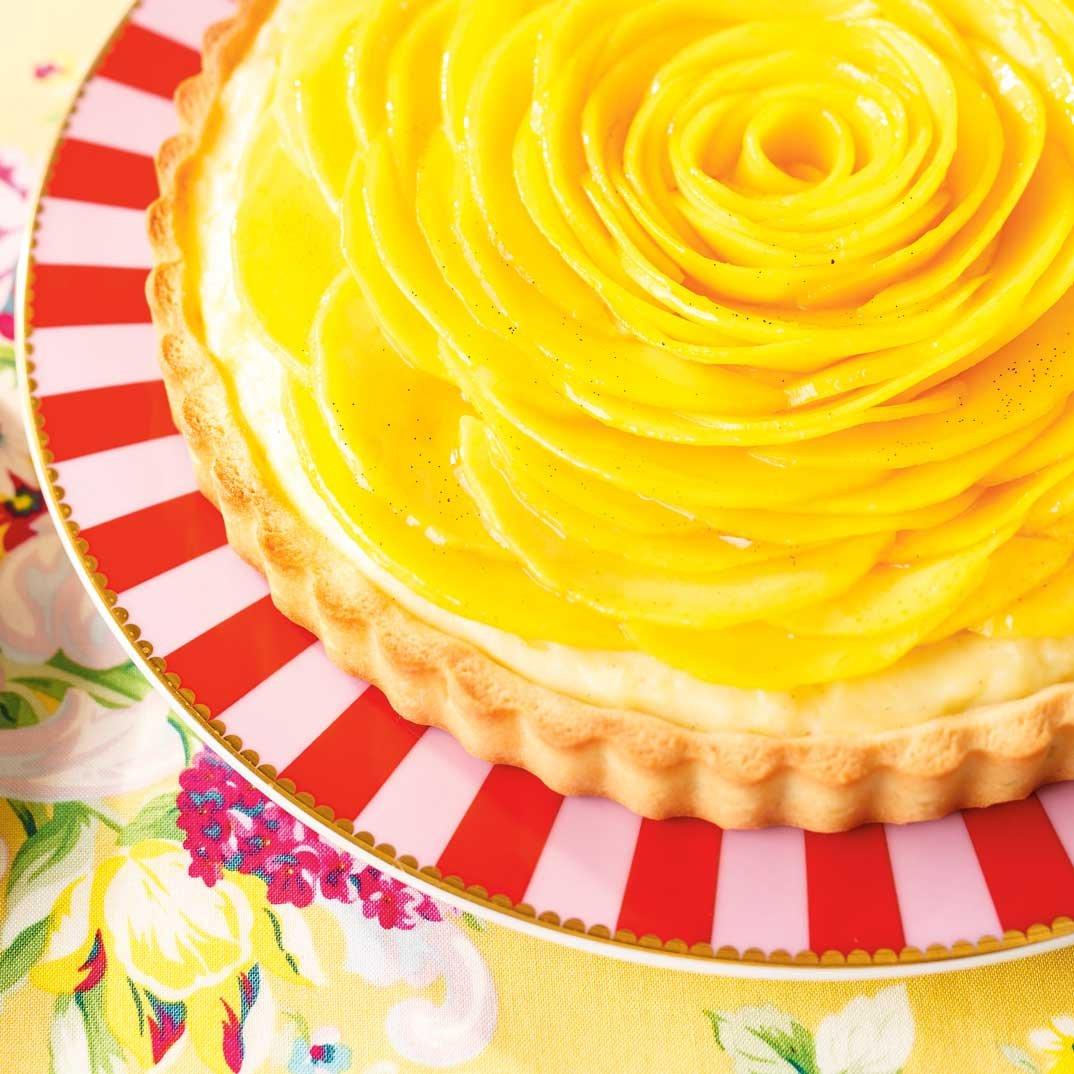 Tarte à la mangue et à la vanille