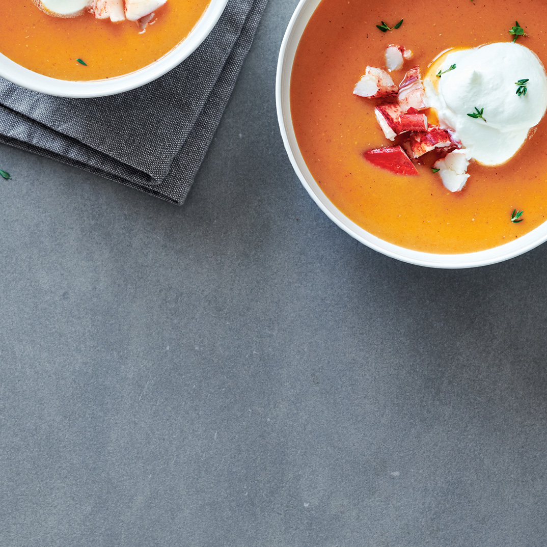 Bisque de homard simplifiée