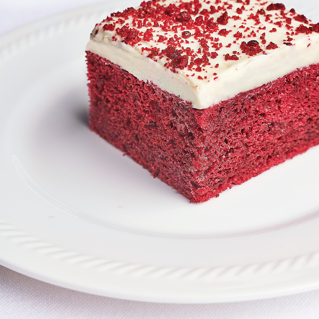 One Layer Red Velvet Cake